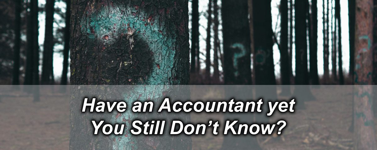 Have an Accountant yet You Still Don't Know?